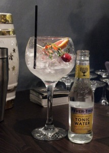 Glass Of Gin With Tonic Water